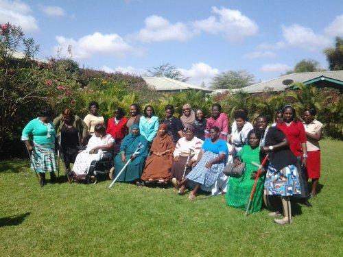 Vrouwen met een beperking in Kenia komen op voor hun rechten